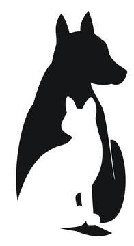 Dog Sitting Silhouette Clipart Free
