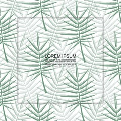 Wall Mural - Exotic Tropical Floral Botanical Template