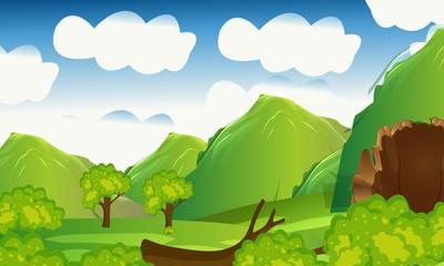 Foto op Plexiglas Lichtblauw Nature love Forest Landscape Background