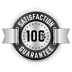 Silver 100 Percent Satisfaction Badge