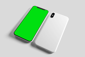 Smartphone Screen and Case Mockup - 3d rendering