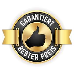 Goldener Garantiert Bester Preis Siegel