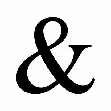 Black Ampersand symbol