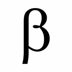 Black Beta symbol