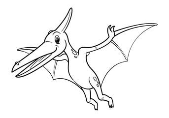 Cute cartoon dinosaur Pteranodon character