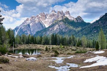 Landscape near tre cime di lavaredo in South Tirol