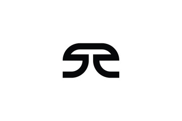 Creative Innovative Initial Letter logo SS. Minimal luxury Monogram. Professional initial design. Premium Business typeface. Alphabet symbol and sign.