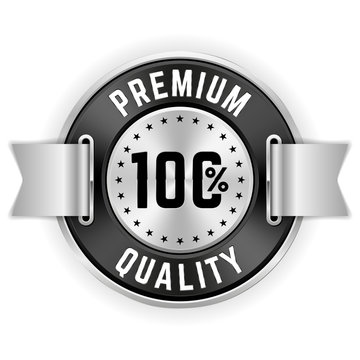 Silver 100% Premium Quality Badge With Ribbon