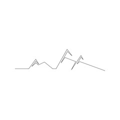 continuous line drawing of mountains. isolated sketch drawing of mountains line concept. outline thin stroke vector illustration