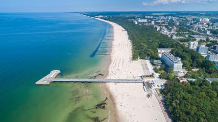 Kołobrzeg – piękne miasto i uzdrowisko nad Morzem Bałtyckim z lotu ptaka