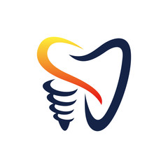 dental implant logo icon vector