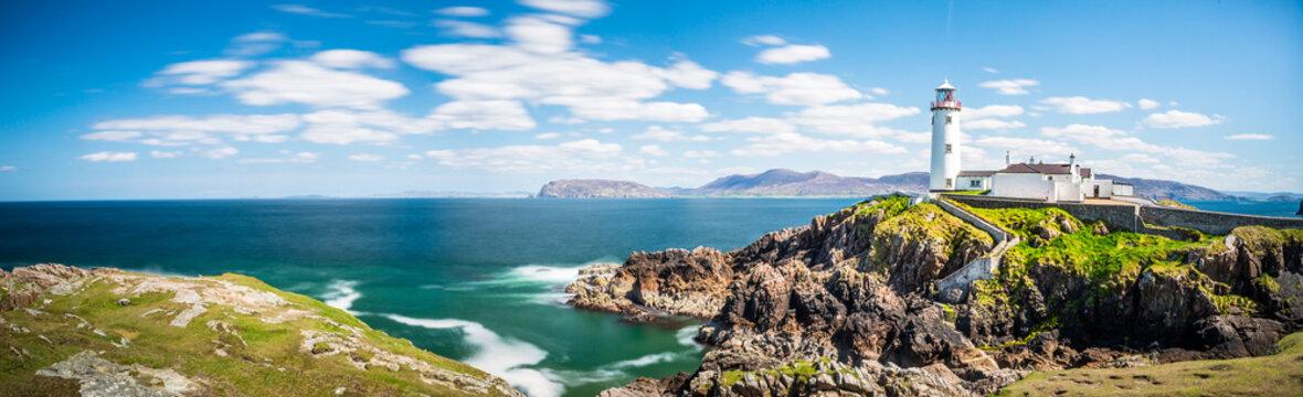 Lighthouse in Ireland Panorama