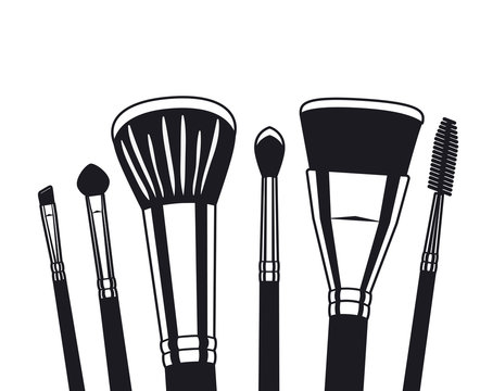 set of applicators make up brushes accessories