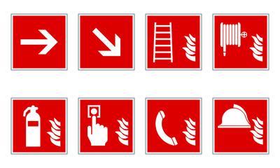 Brandschutz Schilder set