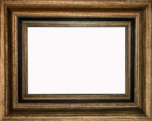 marco de madera sobre un fondo blanco