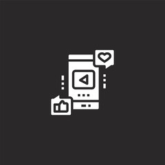 social media icon. Filled social media icon for website design and mobile, app development. social media icon from filled freelance collection isolated on black background.