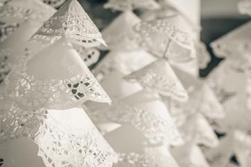 white paper trees