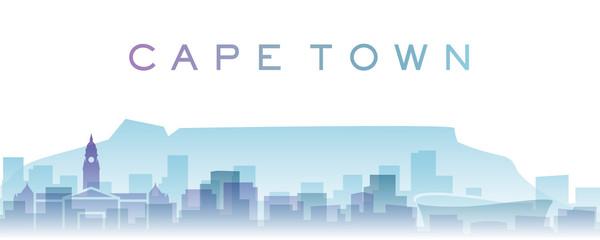 Cape Town Transparent Layers Gradient Landmarks Skyline
