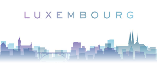 Luxembourg Transparent Layers Gradient Landmarks Skyline