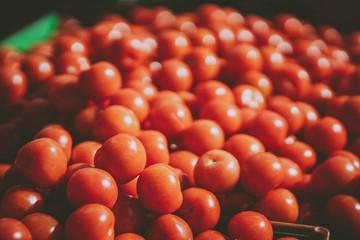 Fresh tomatos in sunday market