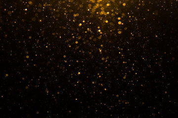 Abstract gold bokeh with black Wall mural