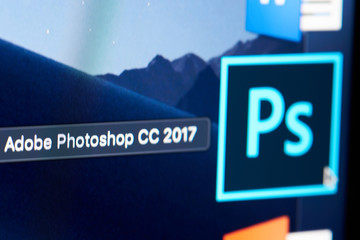 Adobe photoshop CC icon on screen