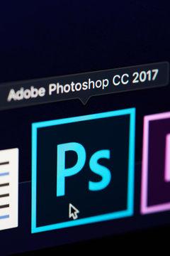 Adobe photoshop icon on screen