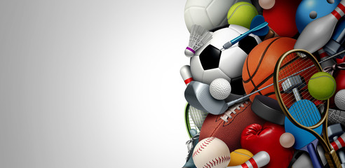 Fototapete - Sports Equipment Background