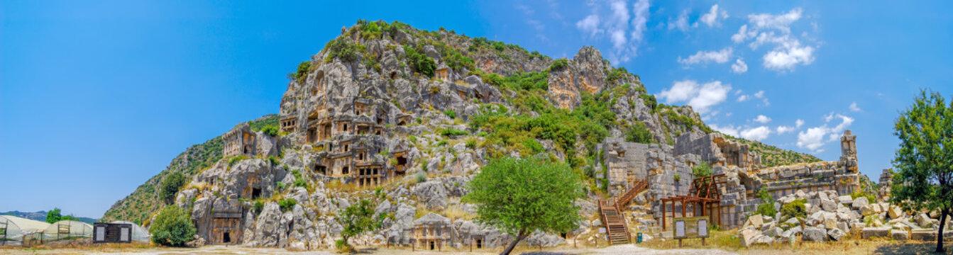 Rock-cut tombs in Myra (Demre, Turkey)