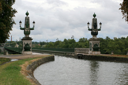 canal bridge (gustave eiffel) in briare (france)