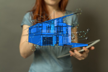 Smart home and future concept