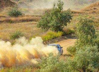 Sports Car on a Bend and a lot of Dust 05