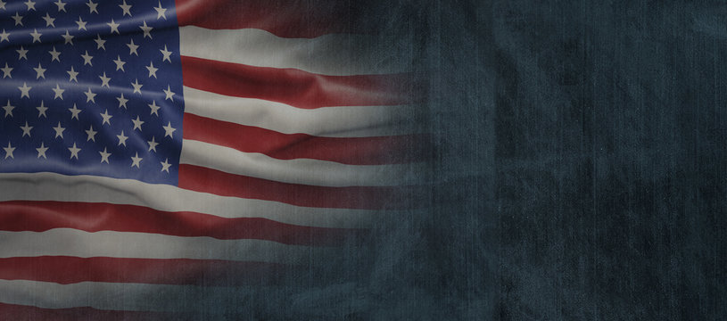 American National Holiday. US Flag background with American stars, stripes and national colors. Copy space.