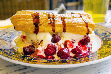 Fototapete - Handmade Floating island , French dessert