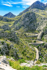Tramuntana mountains of Mallorca - serpentines to Sa Calobra