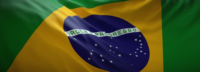 Photo sur Plexiglas Amérique du Sud Official flag of Brazil. Brazilian web banner.
