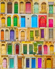 Retro wooden Maltese doors