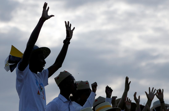 Pope Francis arrives at Ivato International Airport for a three-day visit to Madagascar