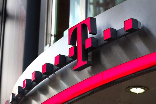 dortmund, North Rhine-Westphalia/germany - 22 10 18: telekom sign in dortmund germany