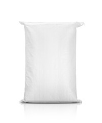 sand bag or white plastic canvas sack for rice or agriculture product