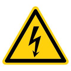 Danger High Voltage Symbol Sign, Vector Illustration, Isolate On White Background Label. EPS10