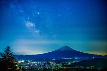 富士山を見下ろす天の川