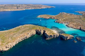 Fototapete - Aerial landscape of Maltese islands