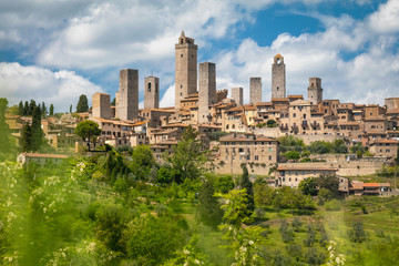 Beautiful view of the medieval town of San Gimignano, Italy