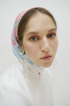 Fashionable Portraits / Portrait Of Stylish Female On White.