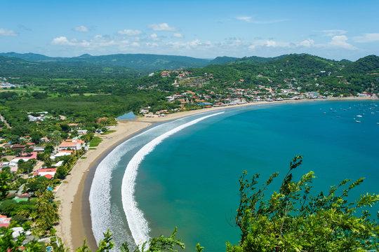 Bahía y playa de San Juan del Sur, Nicaragua