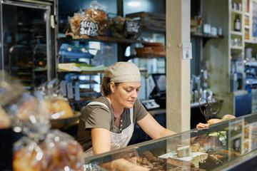 Saleswoman in a bakery
