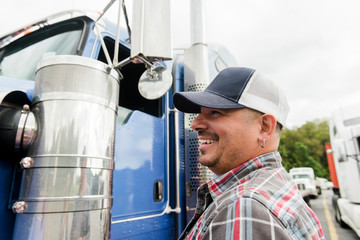 Portrait of truck driver