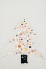 Seashells and Christmas Beach Art