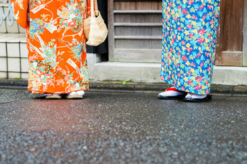 japanese kimono and geta